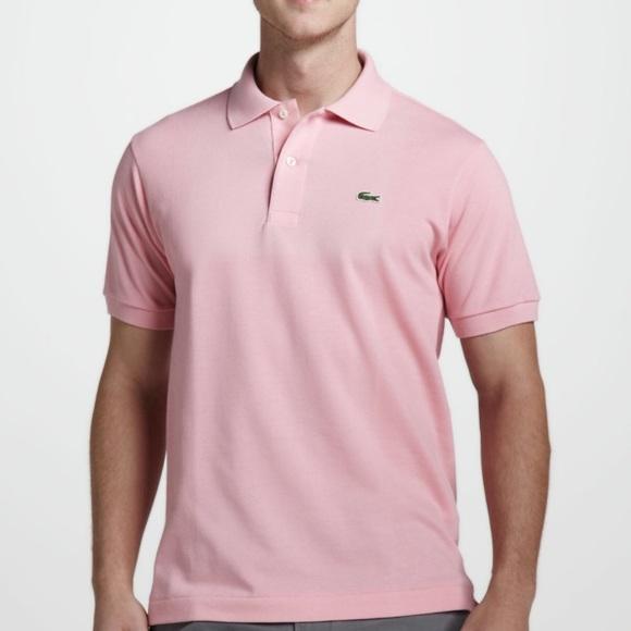 24ef63ffb62 Lacoste Shirts | Mens Pink Polo Shirt 3 | Poshmark